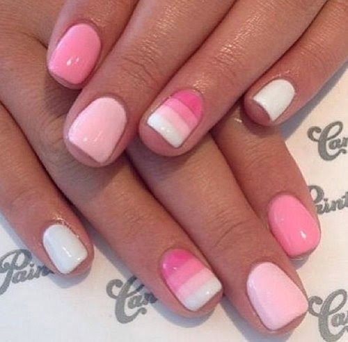 Pink Nail Art Ideas for teens