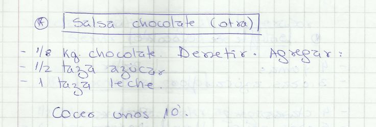SALSA DE CHOCOLATE (OTRA)   #DULCE #SALSAS #SALSA #CHOCOLATE