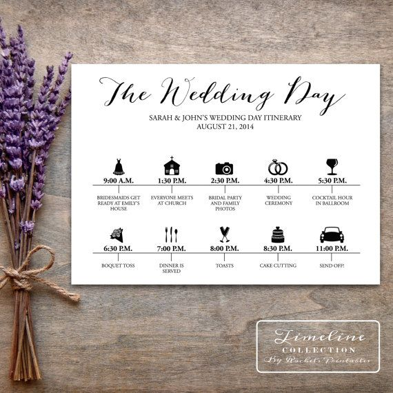 Wedding Day Timeline: 293 Best Images About OOT Bags -Out Of Town Guest Bags On