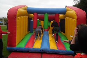 Krypton Factor Team Building inflatable assault course
