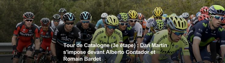 TOUR DE CATALOGNE - Dan Martin (Etixx) a remporté mardi la 3e étape du Tour de Catalogne entre Girona et La Molina, la première qui arrivait en altitude. L'Irlandais, qui s'empare également du maillot de leader, a devancé au sommet Alberto Contador (Tinkoff)...
