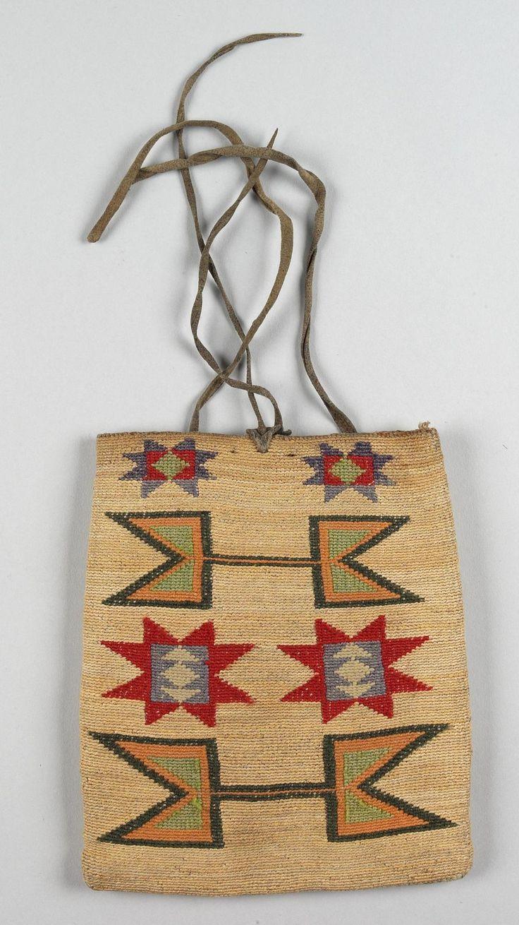 Bag, Nimi'ipuu (Nez Perce), 1880. Сумочка Не Персе, 1880 год.