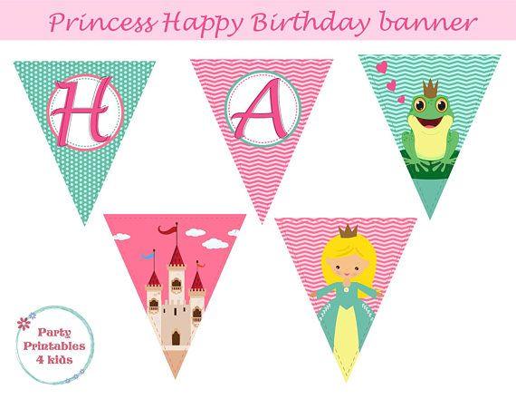 Princess Banner Princess Birthday Decoration Princess Party