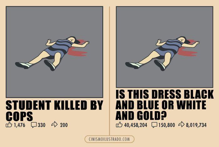 """""""Studentessa uccisa dalla polizia. Il suo vestito è nero e blu o bianco e oro?"""""""