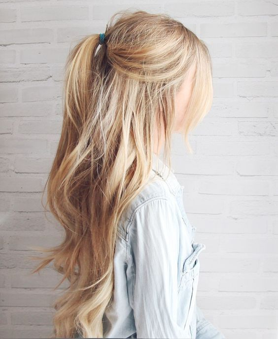 Half-up ponytail | http://www.hercampus.com/school/virginia-tech/5-lazy-day-hairstyles