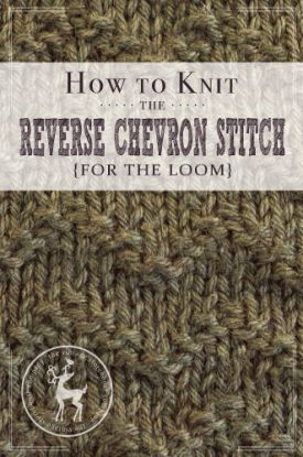 How to Knit the Reverse Chevron Stitch For the Loom | Vintage Storehouse & Co.
