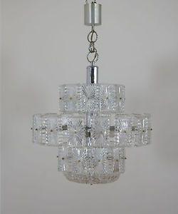BIG vintage metà del secolo ITALIANO LAMPADARIO DI MURANO GLASS | eBay