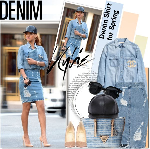 """The Coolest Denim Skirt for Spring"" by barbarela11 on Polyvore"