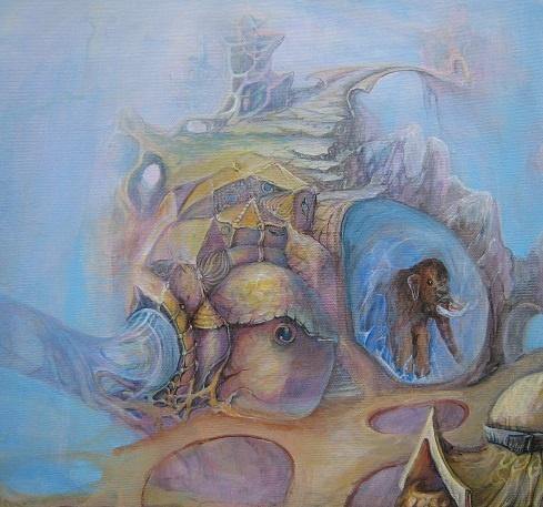 Fragment - Otto Frellos universe. Acrylic. 50 x 50