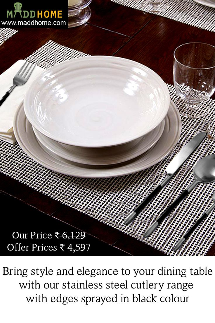 Add a welcome feel to your dining moment with our 24 piece cutlery set.  Buy Now: https://goo.gl/8rsBUp #Cutlery #HomeDecor #DiningTableAccessorie #Kitchen #onlineshopping
