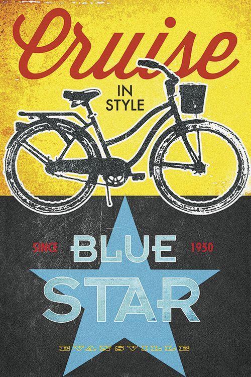 Blue Star Bicycles Print