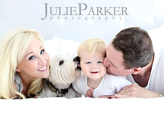 Now how did she get that dog to pose?