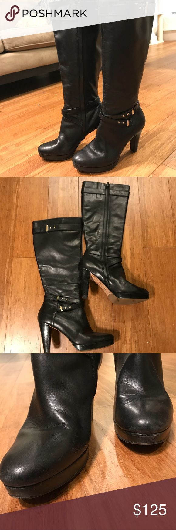 Spotted while shopping on Poshmark: Cole Haan heeled leather boots! #poshmark #fashion #shopping #style #Cole Haan #Shoes