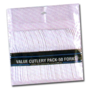 Value White Plastic Forks (50/pkg)