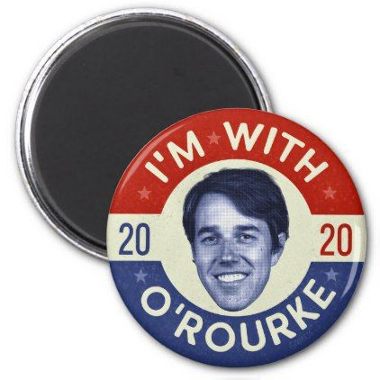Beto O'Rourke President 2020 Democrat Photo Retro Magnet | Zazzle.com