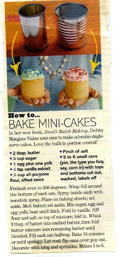 mini cakes!: Minis Cakes, Little Cakes, Smash Cakes, Cute Ideas, Cans Cakes, Small Cakes, Tins Cans, Baby Cakes, Soups Cans