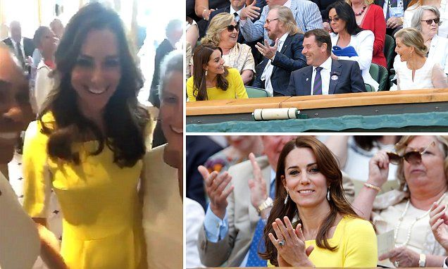 Duchess of Cambridge recycles dress for Wimbledon