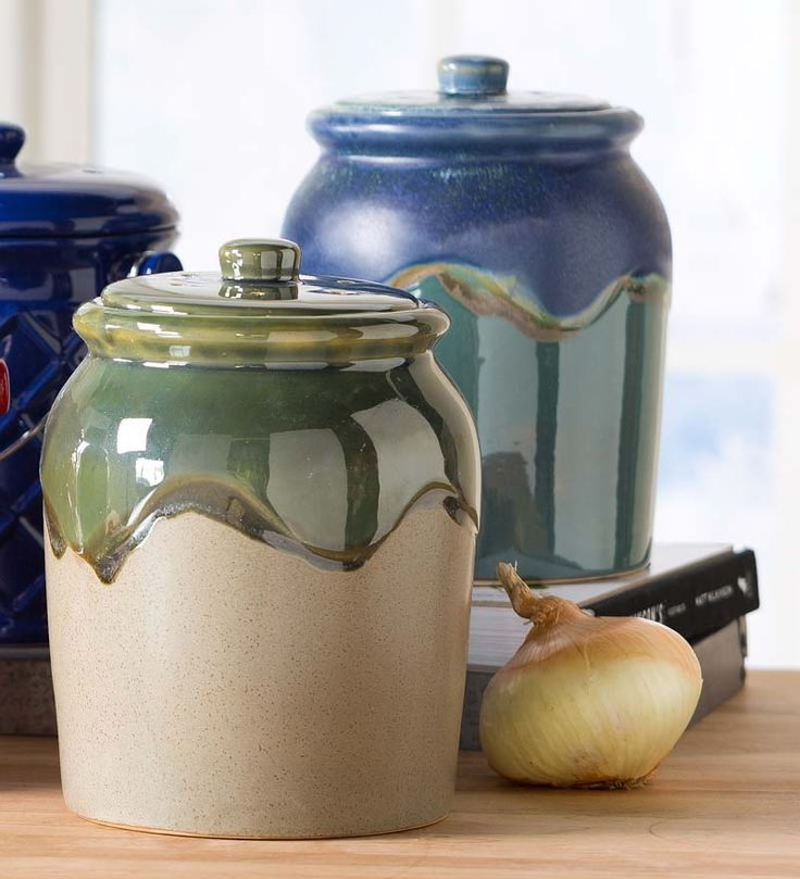 1gallon glazed earthenware compost crock