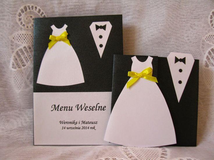 Zaproszenia moja pasja: Garnitury i karta menu