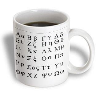3dRose - Florene Decorative - Greek Alphabet - 11 oz mug