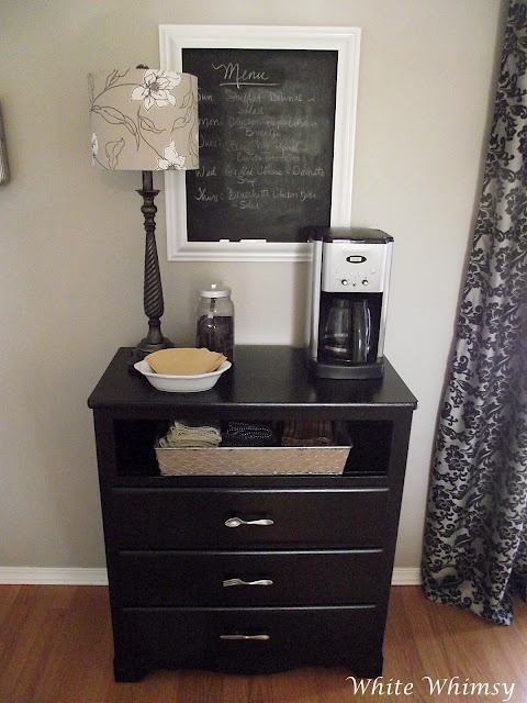 Great Home Coffee Bar. Great Idea In Guest Bedroom.