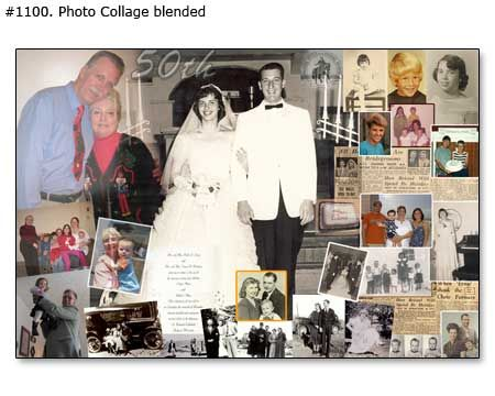 50th wedding anniversary collage, gift ideas for parents, grandparents ...