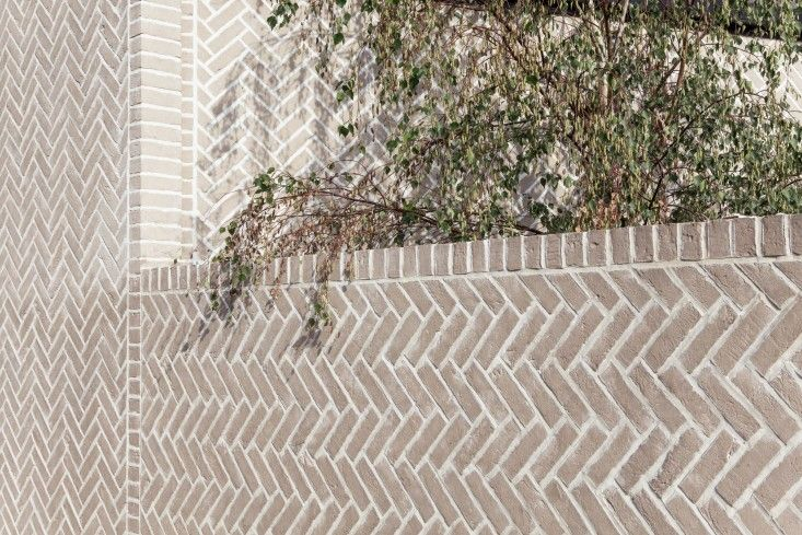 Herringbone House, exterior brick detail by Atelier Chan Chan, London, Mike Tsang Photograph | Remodelista