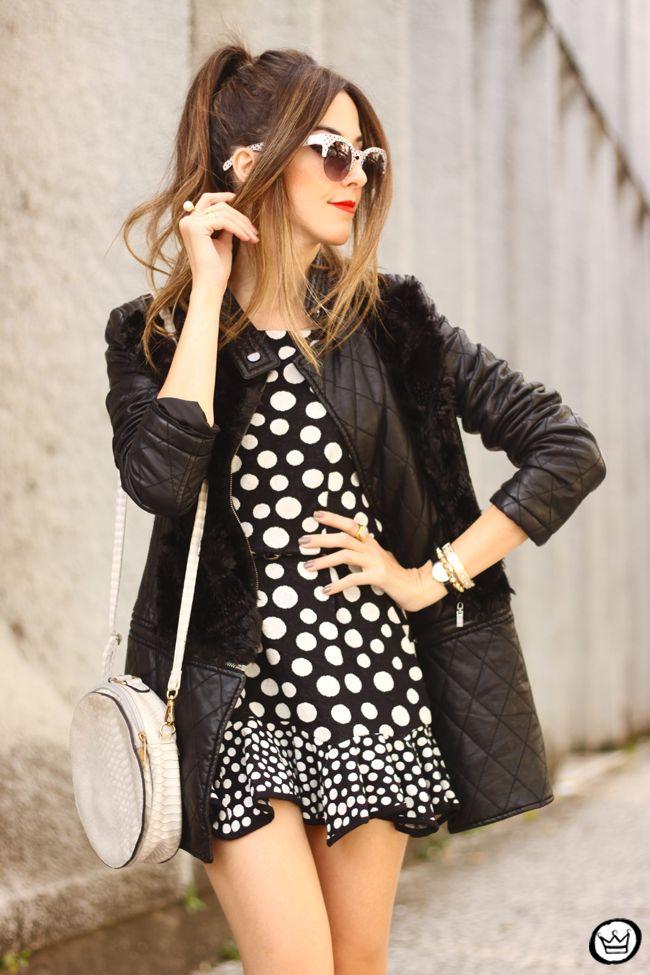 FashionCoolture - 06/22/2015 look du jour Slywear dots black and white outfit (9)
