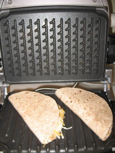 Quesadillas, George Foreman Evolve Grill,