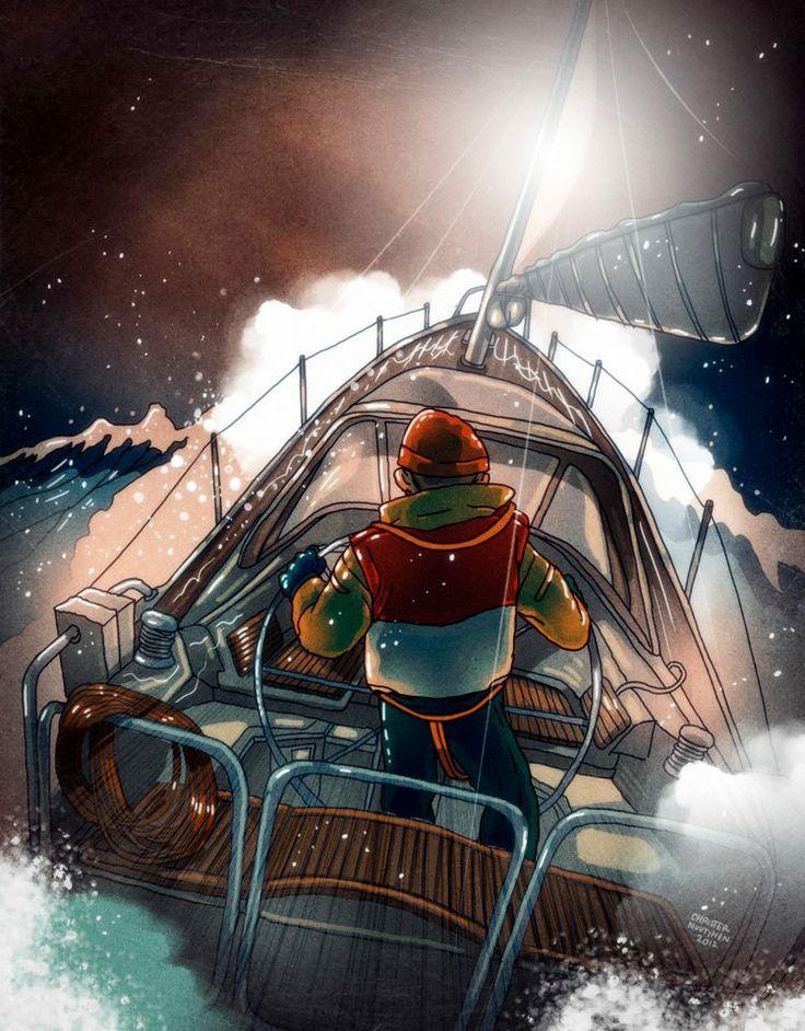 Illustration by Christer Nuutinen for Vene magazine, 2012