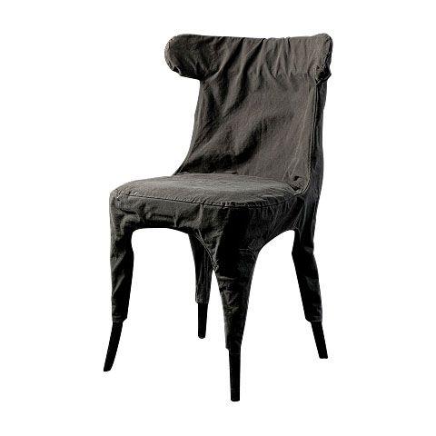 Стул из натурального дерева с хлопковым чехлом.             Метки: Кухонные стулья.              Материал: Ткань, Дерево.              Бренд: ROOMERS.              Стили: Лофт.              Цвета: Серый.