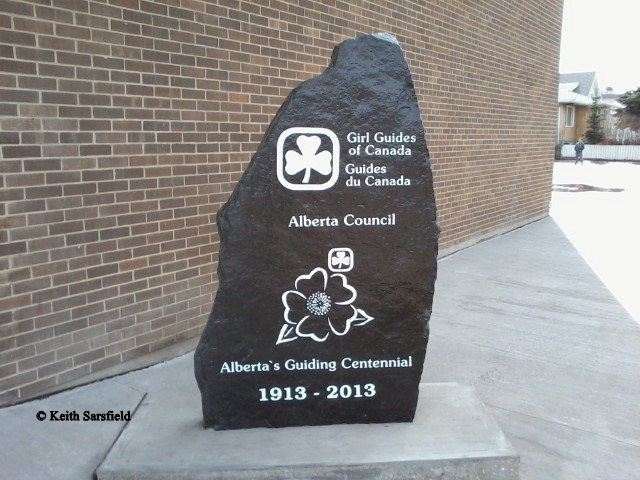 Centennial Stone @ Girl Guides of Canada (11055-107St.)