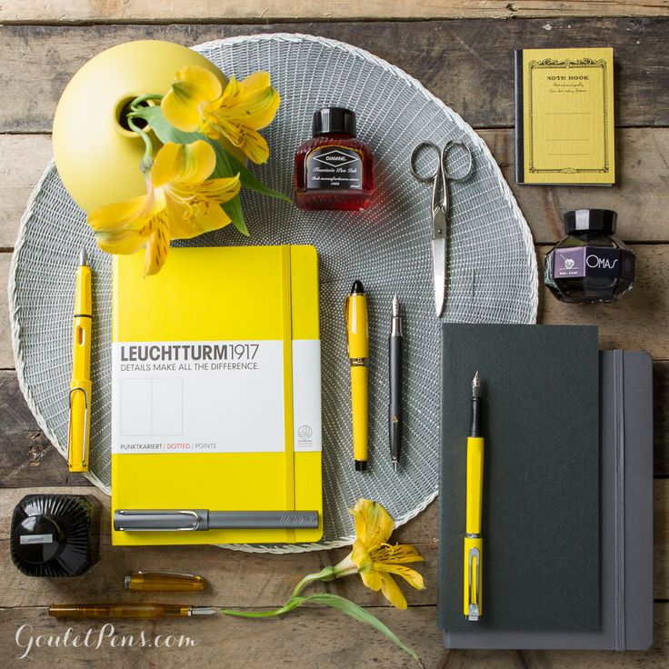 Goulet Pens Blog: Thursday Things: Yellow and Grey