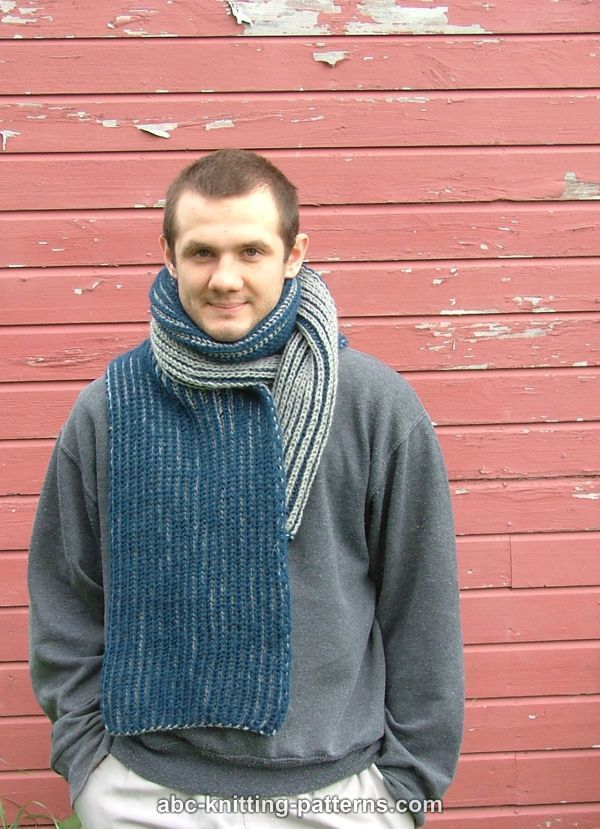 ABC Knitting Patterns - Two-Color Brioche Scarf