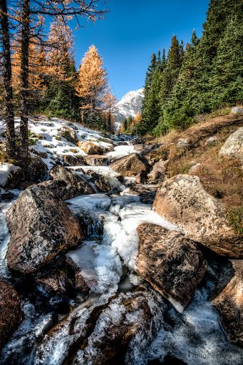 Larch Valley, Small Waterfall