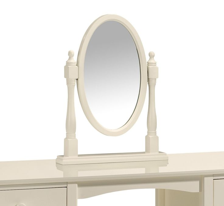 Cream Oval Dressing Table Mirror