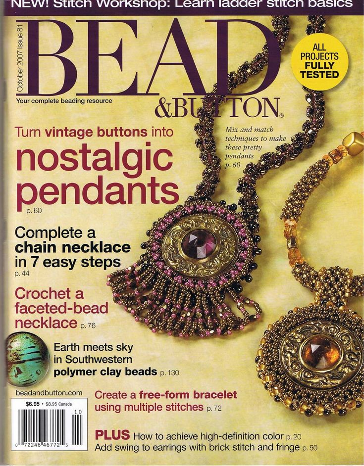 57 best beading books images on pinterest magazines bead beadbutton 2007 10 fandeluxe Images