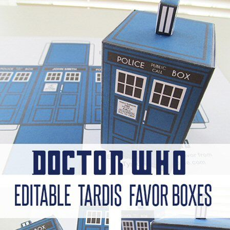 A Typical English Home: FREE Printable TARDIS & Dr. Who party decorations