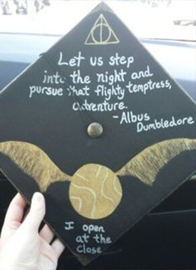 21 Magical DIY Harry Potter Graduation Caps All Potterheads will Obsess Over