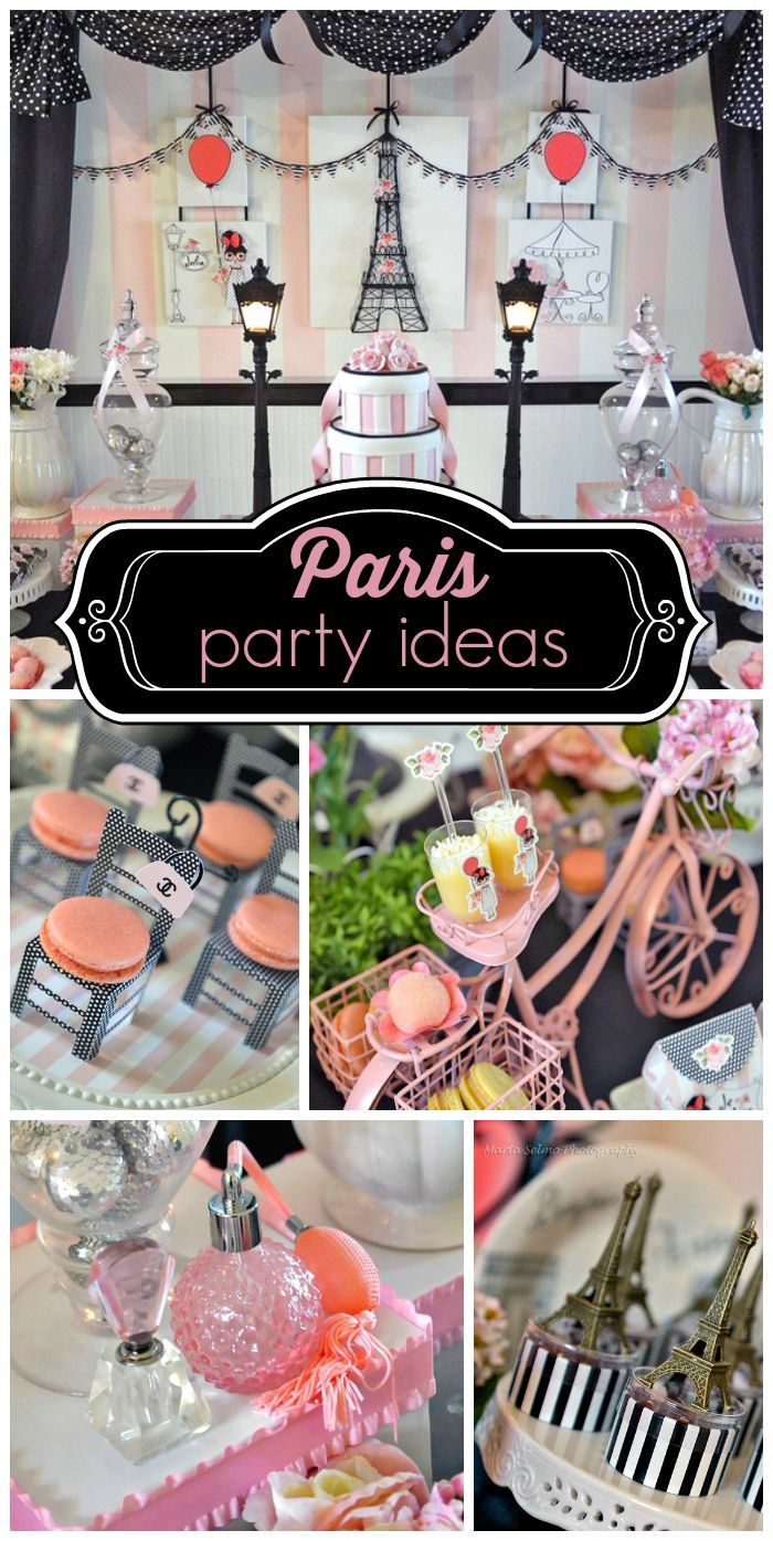 155 best Frenchinspired Party Theme images on Pinterest Paris