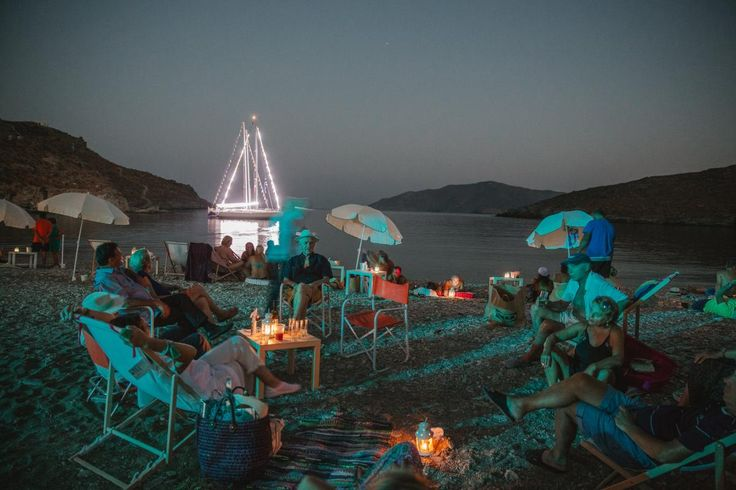all day beach wedding party Kythnos | lafete