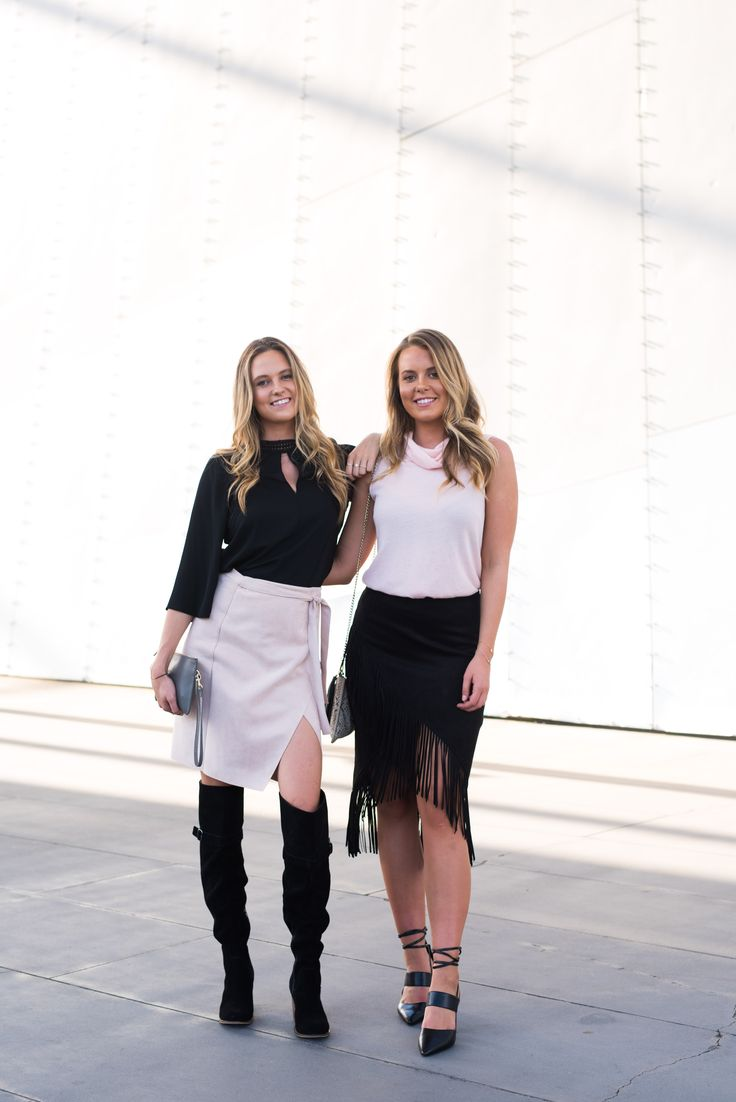 Ruby wears ZALA Suede Boots and Lucy wears TENACIOUS Leather Pumps. Shop styles now: www.jomercer.com.au
