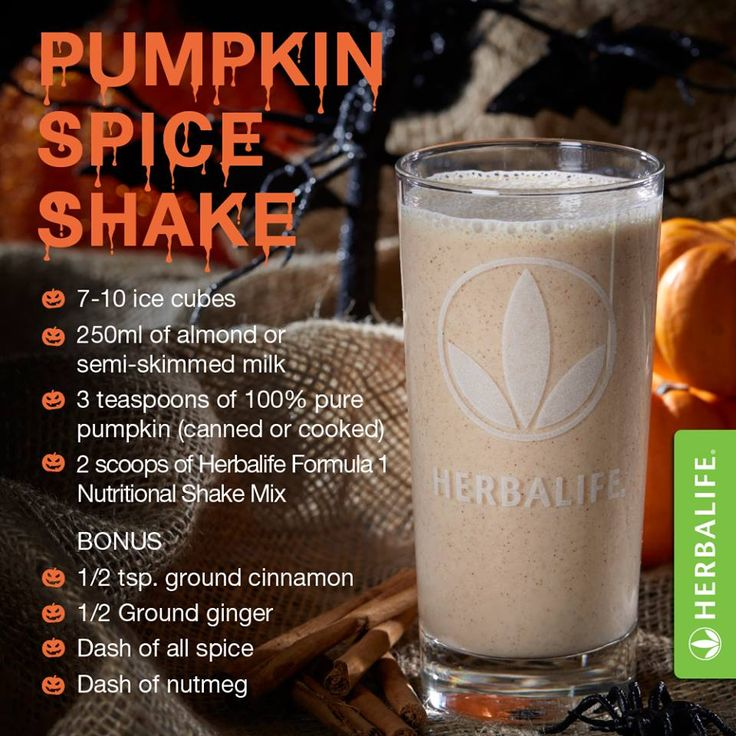 Halloween isn't just for kids – spook them all with this scarily good pumpkin spice shake ‪#‎HappyHalloween‬! Need the ingredients? Shop them now! Order your Herbalife Products ONLINE TODAY! Click ...