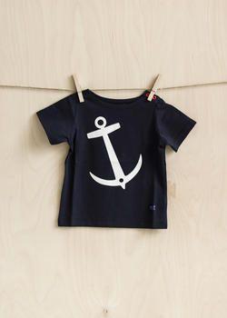 EM Anchor T-shirt Children Plain Navy - emma och malena