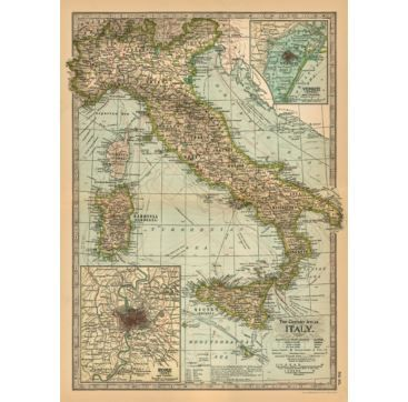 Giftwrap May Italy - Bobangles #Cavallini #vintage #map #Italy #poster #giftwrap