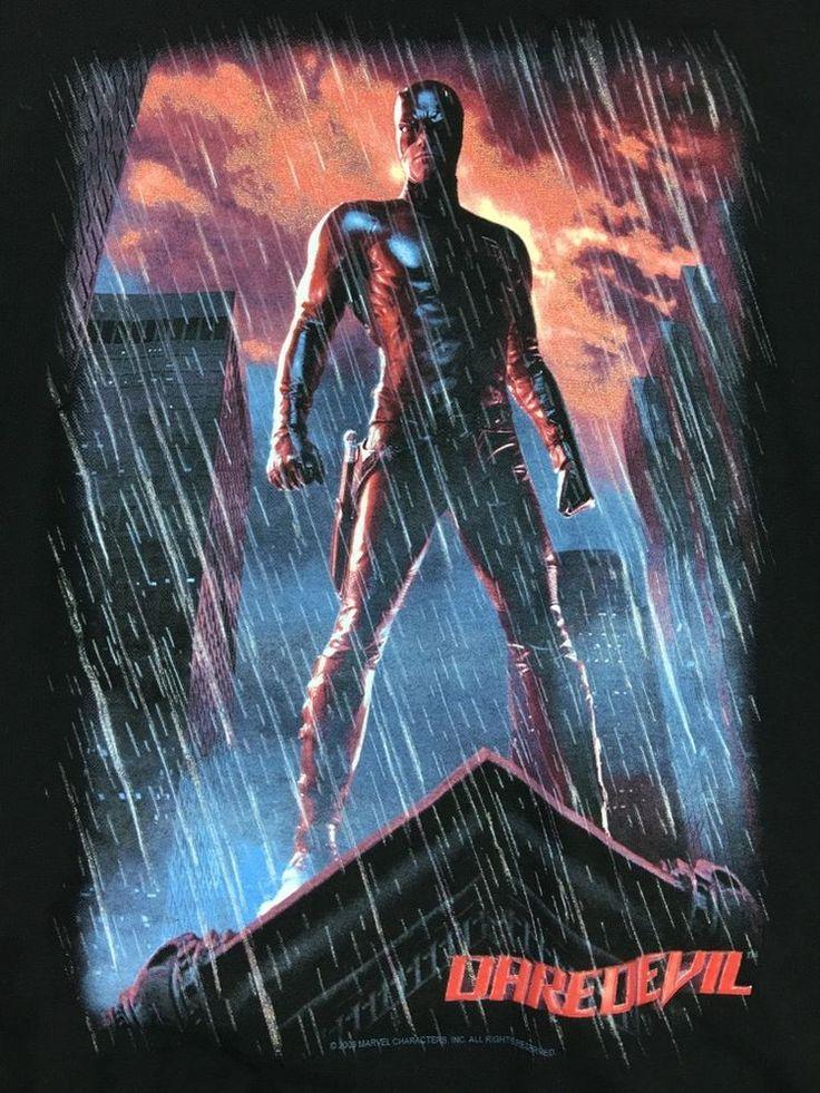 Daredevil 2003 Movie 2XL Black T-ShirtBen Affleck Marvel Fox Netflix…