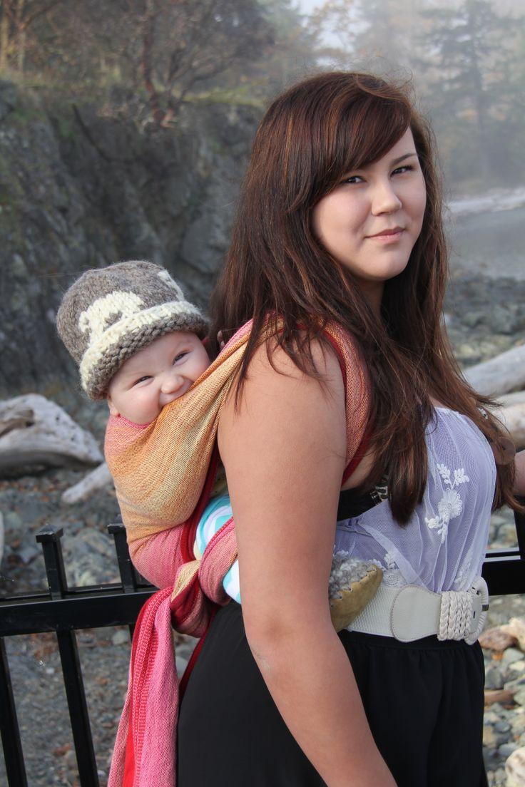 Rockabye wraps, hand woven wraps, baby wearing, island sunrise