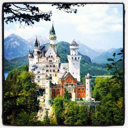 Neuschwanstein Castle, near Schwangau, Germany - Just beautiful =)
