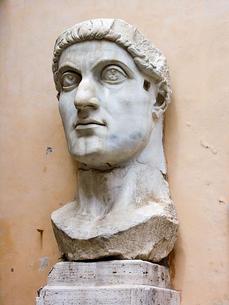 "Constantine the Great - Roman Emperor from 306 to 337 and the first to convert to Christianity, he founded a ""New Rome"" at Constantinople (now Istanbul)."