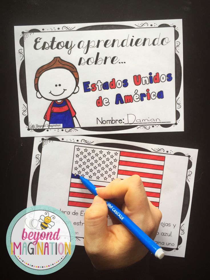 Spanish resource to teach children about their own country (USA). Children love learning about their own country in Spanish. Cute images too!